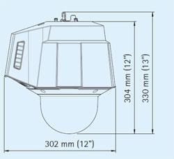 габаритные размеры камеры Axis-Q6032-C