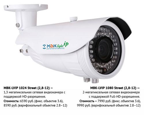 Видеокамеры МВК серии Light-IP