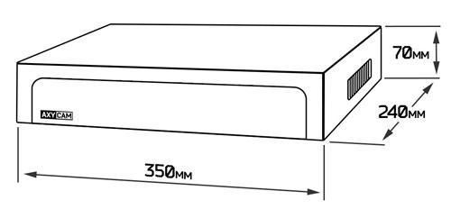 AX-N0404 - габаритные размеры